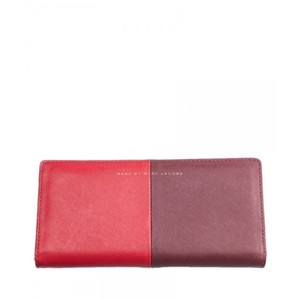 Marc by Marc Jacobs Marc By Marc Jacobs Red Two Tone Open Flap Long Wallet New With Tags