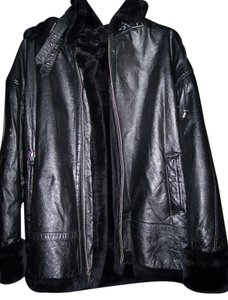 B.M.M. America black Leather Jacket