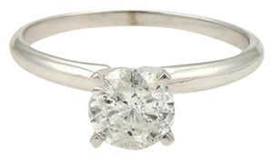 Round Cut 1.00ct Diamond 14k White Gold Engagement Solitaire Ring
