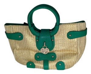 bebe Satchel in Straw/green