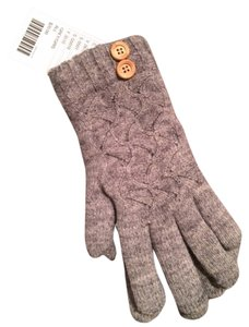 Urban Outfitters Cableknit Lined Gray Gloves