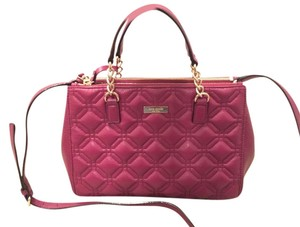 Kate Spade Phoebe Emerson Place Cobble Hill Devin Quilted Satchel in Purple Plum