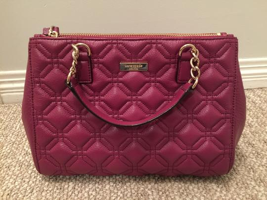 Kate Spade Phoebe Emerson Place Cobble Hill Devin Quilted Satchel in Purple Plum Image 1