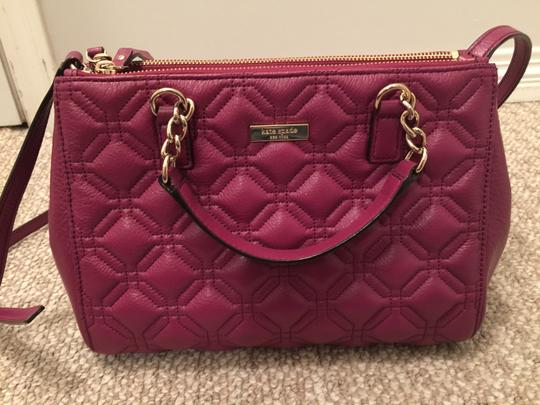 Kate Spade Phoebe Emerson Place Cobble Hill Devin Quilted Satchel in Purple Plum Image 2