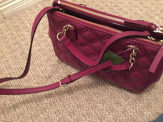 Kate Spade Phoebe Emerson Place Cobble Hill Devin Quilted Satchel in Purple Plum Image 3