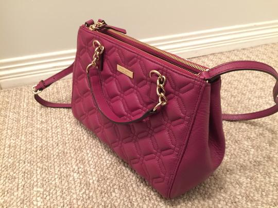 Kate Spade Phoebe Emerson Place Cobble Hill Devin Quilted Satchel in Purple Plum Image 4
