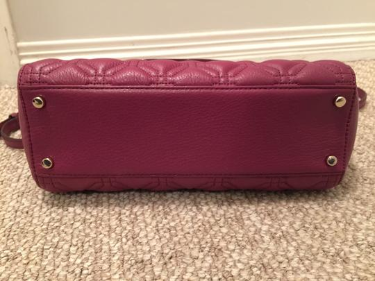 Kate Spade Phoebe Emerson Place Cobble Hill Devin Quilted Satchel in Purple Plum Image 5