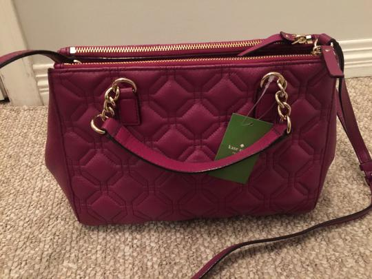 Kate Spade Phoebe Emerson Place Cobble Hill Devin Quilted Satchel in Purple Plum Image 6