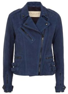 Burberry Blue Leather Jacket