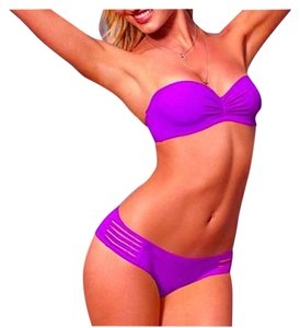 Other Purple Strapless Pushup Bikini Two Piece Set