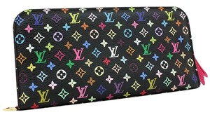 Louis Vuitton Mint Authentic Louis Vuitton Multicolore Monogram Noir Insolite Wallet w/ Grenade Interior