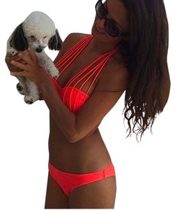Two Piece Bikini Set Colors: Orange, White, Black Sizes: Small, Medium, Large