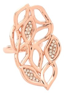 Alexis Bittar Alexis Bittar Rose Gold Large Flower Cocktail Ring Size 7 New