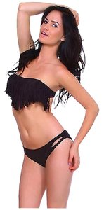Brand New 2 Piece Fringe Bandeau Style Bikini Bathing Suit Small, Medium Large