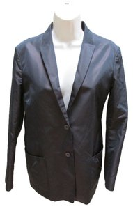 Jil Sander Silk Blend Single Breasted Brown Blazer