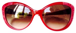 Valentino Valentino Red Cat Eye Sunglasss