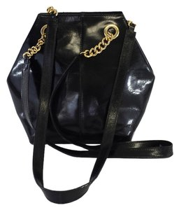 Cristian Black Leather Shoulder Bag