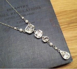 Givenchy Crystal and Pearl Pendant Necklace