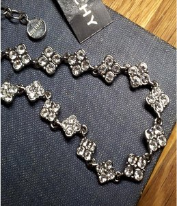 Givenchy Crystal Clovers Rhinestone Necklace