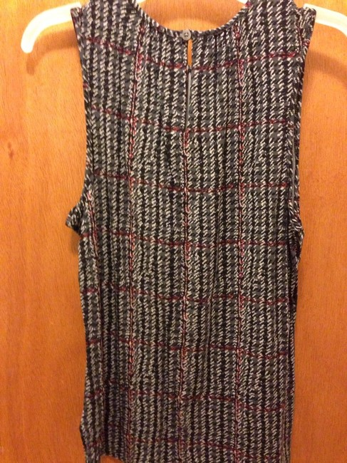 Chaps Top Black Grey Red