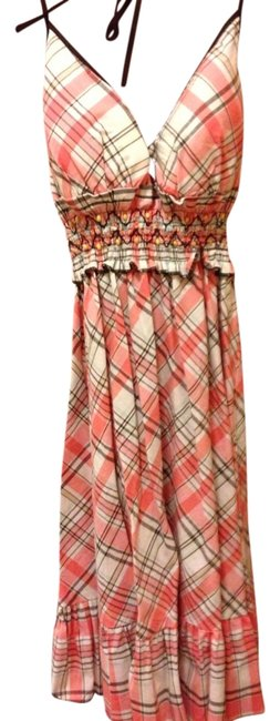 Preload https://img-static.tradesy.com/item/719660/heartsoul-pink-white-brown-short-casual-dress-size-4-s-0-0-650-650.jpg