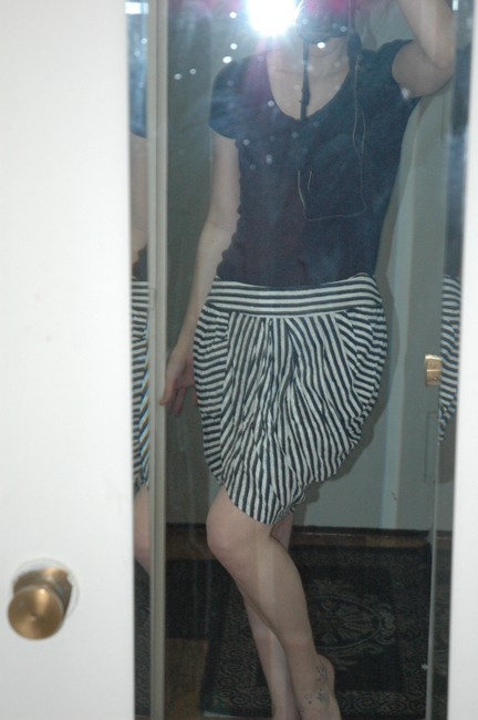 Lil Mini Skirt black and white striped
