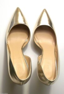 J.Crew Metallic Gold Pointy Toe. Classy. Pumps Size US 6.5