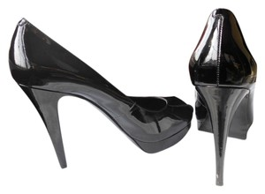 BCBGeneration Patent Leather Stiletto Platform Bcbg Peep Toe black Pumps