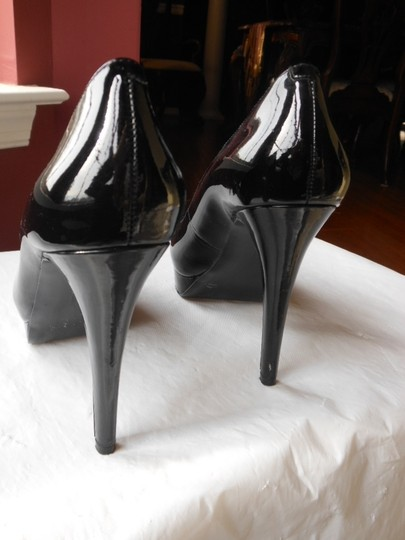 BCBGeneration Patent Leather Stiletto Platform Peep Toe black Pumps
