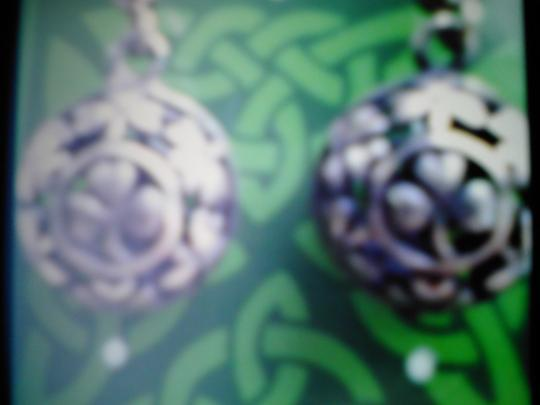 Peter Stone STERLING SILVER SHAMROCK EARINGS