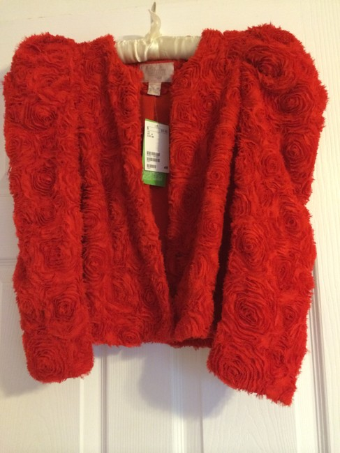 H&M Jacket Coat Fashion Rose Limited Rare red Blazer