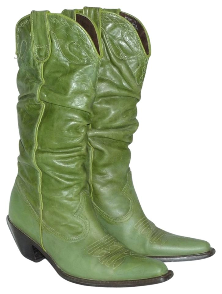 8582282e3ea Steve Madden Green Spurs Leather Western Style Slouch Cowgirl Boots/Booties  Size US 7