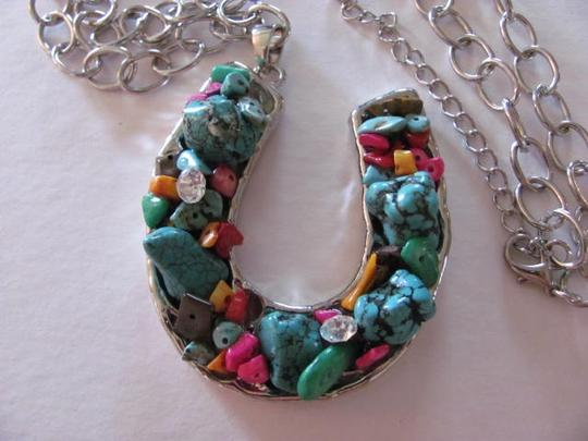 Other SILVER CHAIN HORSE SHOE PENDANT/CHARM NECKLACE