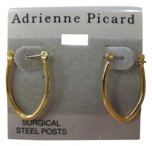 ADRIENNE PICARD GOLD EARRINGS SURGICAL STEEL POSTS EARRINGS