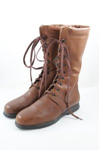 Tod's Leather Lace Up Chestnut Brown Boots