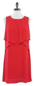 BCBGMAXAZRIA short dress Red Silk Sleeveless on Tradesy
