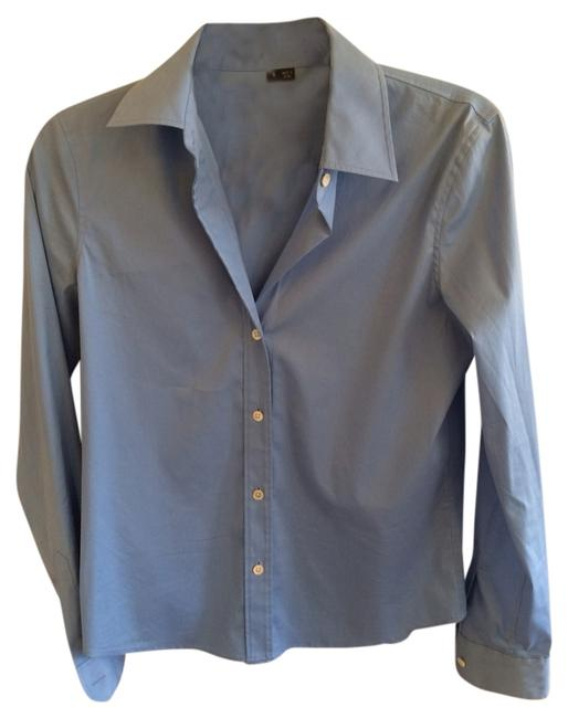 Theory Button Down Shirt Periwinkle Blue