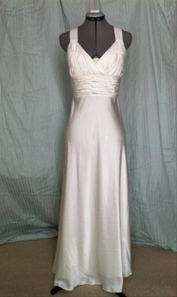 Ivory Silk Satin #581 Calvin Klein Wedding Dress Size 2 (XS) - Tradesy