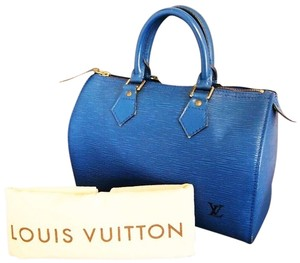 Louis Vuitton Epi Bag - Satchel in blue
