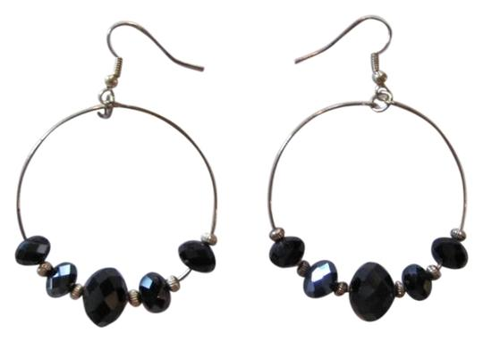 Preload https://item2.tradesy.com/images/gold-black-dangle-circle-new-earrings-720821-0-0.jpg?width=440&height=440