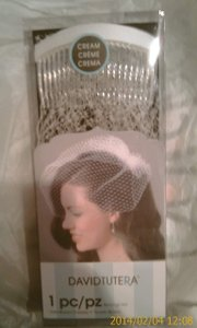 Cream- Ivory Birdcage *sweet *ready To Sing At Your In Box Bridal Veil