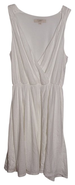 Preload https://item4.tradesy.com/images/ann-taylor-loft-white-knee-length-short-casual-dress-size-12-l-720823-0-0.jpg?width=400&height=650