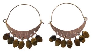 MARCIA MILLER COLLECTION NEW ON CARD EARRINGS GOLD W/STONES
