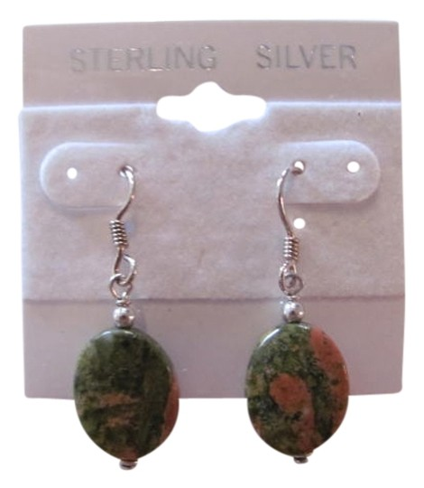Preload https://item4.tradesy.com/images/green-rust-oval-stones-sterling-silver-earrings-720883-0-0.jpg?width=440&height=440