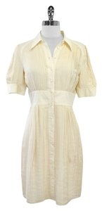 Catherine Malandrino short dress Cream Silk Pleated on Tradesy