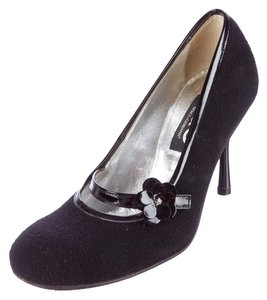 Dolce&Gabbana Felted Work Heels Party Heels Limited Edition Preppy Black Pumps