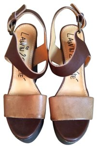 Lanvin Brown/Tan Wedges