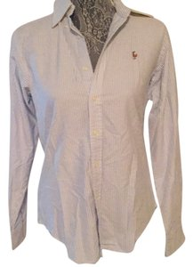 Ralph Lauren Button Down Shirt Blue and white