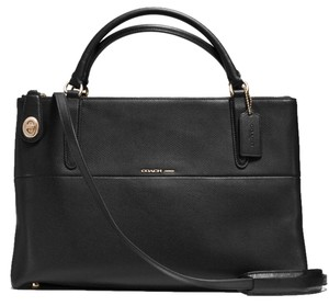Coach Borough Collection Style 35833 Satchel in Black