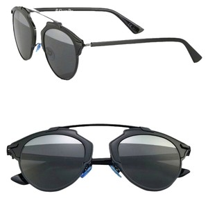 8bdee3bd2d36 Dior DIOR  So Real  48mm Mirrored Sunglasses Black Grey Silver Mirror
